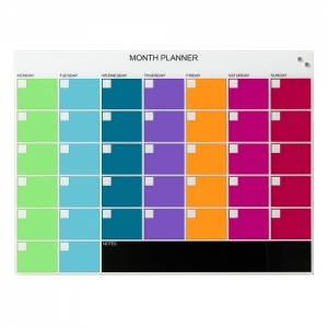 Naga Magnetic Coloured Glassboard Monthly Planner 800 x 600