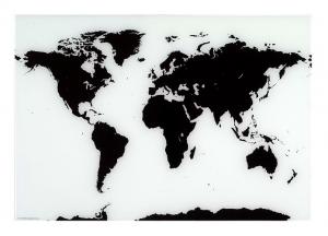 Naga Magnetic Glassboard World Map