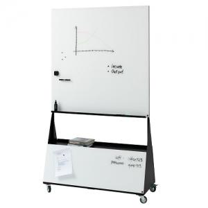 Naga Mobile Magnetic Glassboard with Storage