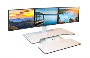 Standesk Pro 3 Monitor Sit Stand with Keyboard White