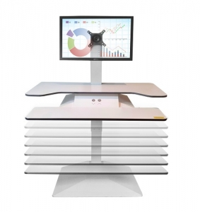 Standesk Pro Sit Stand with Keyboard White