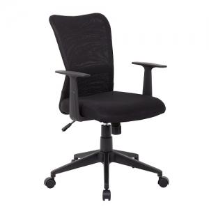 YS01 Ashley Black Fabric Office Chair