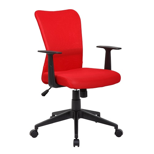 YS01 Ashley Red Fabric Office Chair