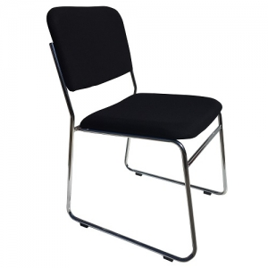 ED Black Fabric Sled Base Visitors Chair