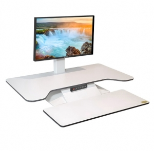 Standesk Pro with Keyboard White Single Monitor with memory controller
