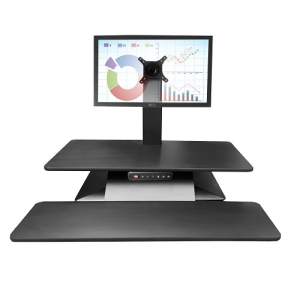 Standesk Memory with Keyboard Black Single Monitor Bracket