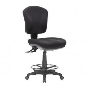 Aqua Medium Back 3 Lever Ergonomic Drafting Chair Black