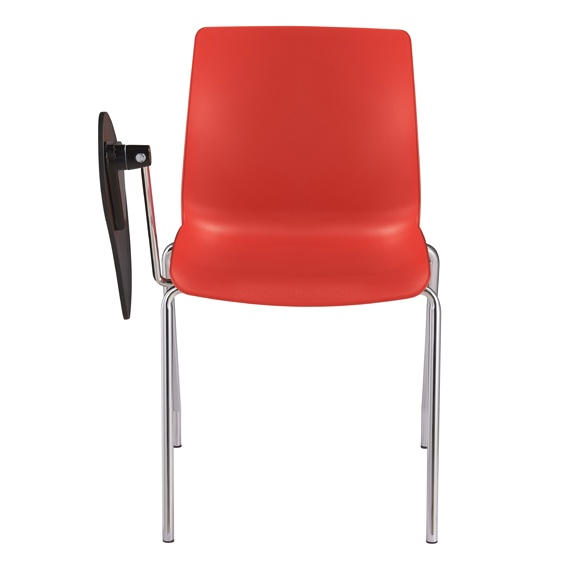 Pod Poly Meeting Training 4 Leg Chair With Tablet Arm I