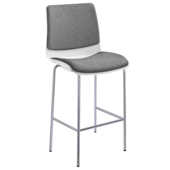 Pod Poly Fabric 4 Leg Bar Stool I Office Furniture Sydney