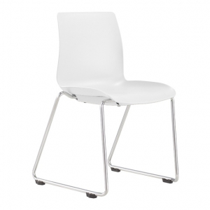 Pod Poly Sled Base Visitors Meeting Chair White