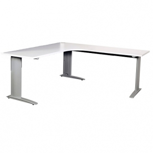 Summit Corner Desk with Metal Legs