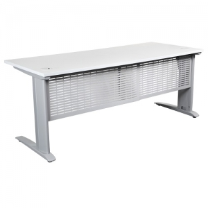 Summit Straight Desk with Metal Legs & Modesty Panel
