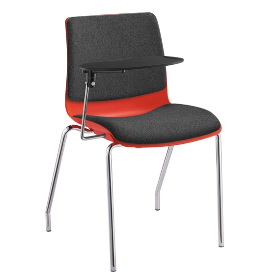 Pod Poly Fabric Visitors Meeting 4 Leg Chair With Arms I