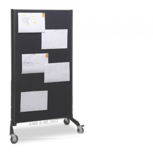Communicate Room dividers - Charcoal Pinboard & Whiteboard other side