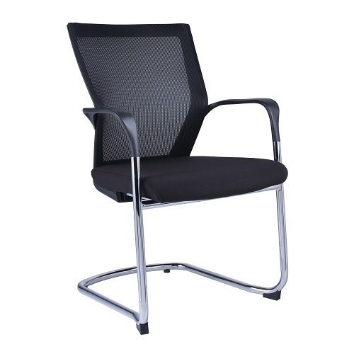 Spencer Visitors Black Mesh Chair Cantilever