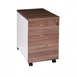 Essentials Premier 2 Drawer+1 File Mobile Pedestal Casnan-White