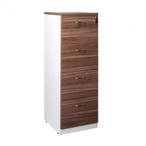 Essentials Premier 4 Drawer Filing Cabinet Casnan-White