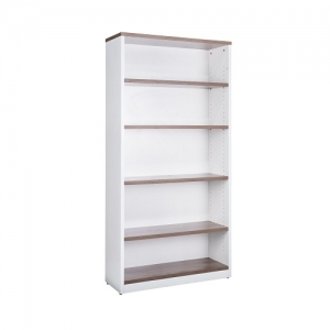 Essentials Premier Open Bookcase 1800H Casnan-White