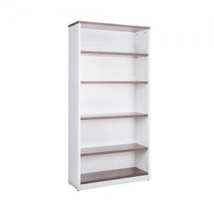 Essentials Premier Open Bookcase 1800H Casnan-White