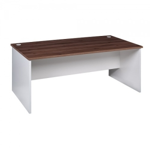 ssentials Premier Open Desk Front View Casnan-White