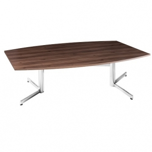 Essentials Premier Boardroom Table with Chrome Base Casnan