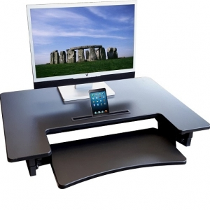 HiLift Sit to Stand Workstation DeskRiser Black
