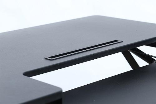 Hilift Ergonomic Sit To Stand Workstation Deskriser Black