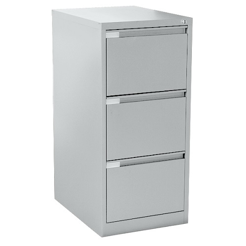 Mercury Three Drawer Steel Filing Cabinet