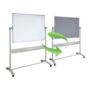 Mobile Combo Whiteboard & Fletboard