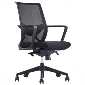 Capri Boardroom Mesh Back Office Chair Black