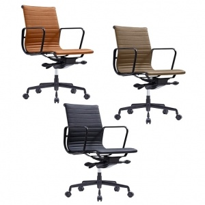 Volt Boardroom Chair PU - Terracotta -Tan -Black