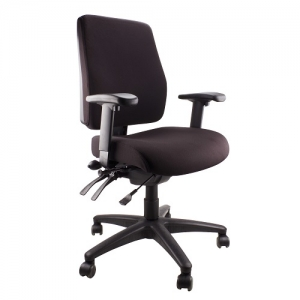 Ergo Air Fully Ergonomic Task Office Chair with Arms Black AFRDI Approved
