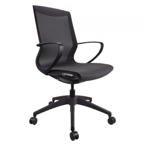 Marics Meeting Office Chair Black with Mesh Seat & Back
