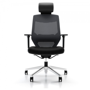 Vogue 4HA Executive Black Mesh Office Chair with Headrest