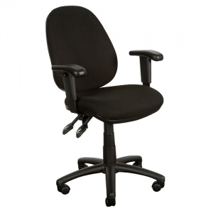 Typist Operators High Back Ergonomic Office Chair with Arms Black fabric YS08A