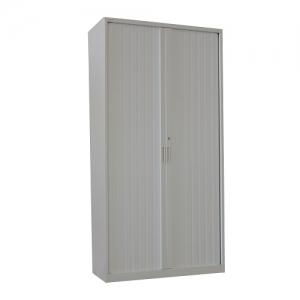 Steelco Tambour Door Cupboard 2000(H) Silver Grey