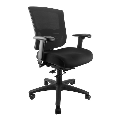 Siena Task Chair Mesh Back with Arms Black