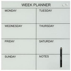 Naga Magnetic White Week Glass Planner 450 x 450