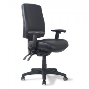Ergoform PU Medium Back Ergonomic Office Chair with arms