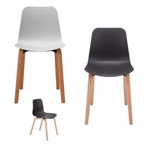 Weave Visitors Chair Timber Leg_White_Black