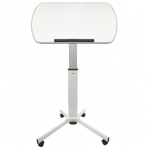 Lectern Height Adjustable with Tilting Top White_High