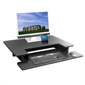 HiLift 800 Ergonomic Sit to Stand Workstation DeskRiser Black