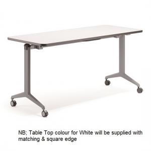 Union Flip Top Table Silver Grey Frame